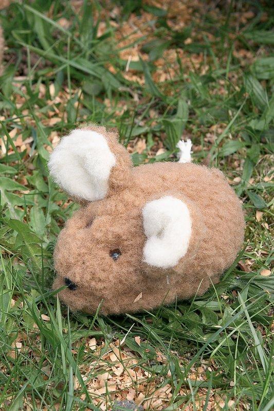 Wolltier Maus