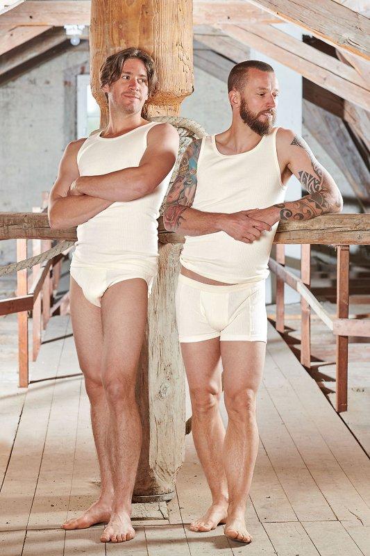 Baumwolle Pur Herren-Achselhemd