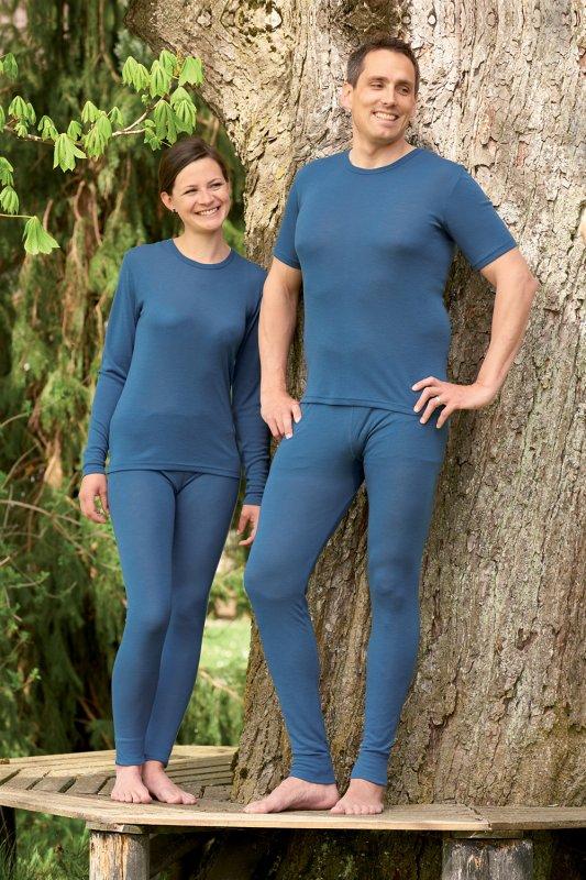 Wolle-Seide Lange Unterhose unisex