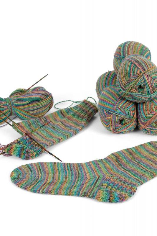 Sockenwolle fein Farbverlauf