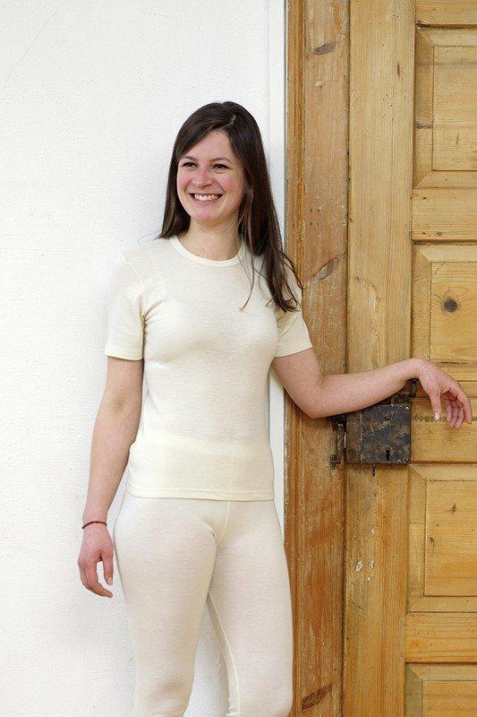 Wolle-Seide Hemd Kurzarm unisex