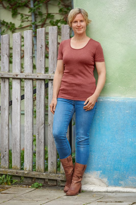 Wolle-Seide Damen T-Shirt