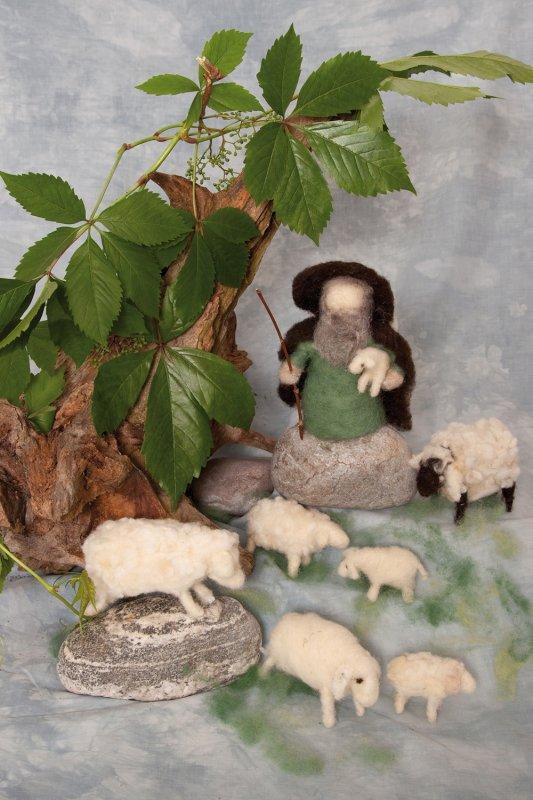 Bastelpackung Schäfer und Schafe
